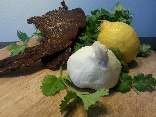 cilantro garlic lemon turkey jerky